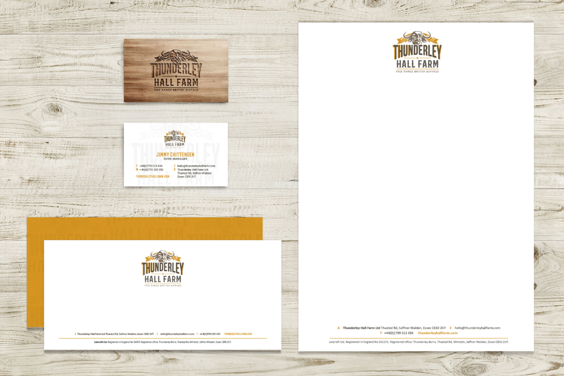 Thunderly Hall Farm identity creative